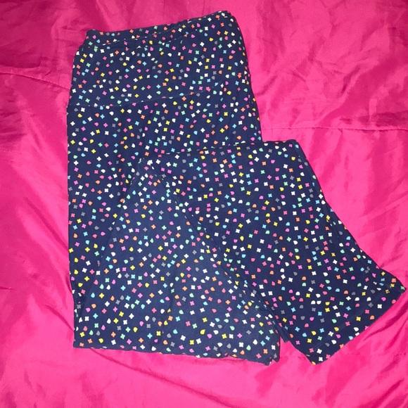 e532814f13e833 LuLaRoe Pants | Leggings Spotted With Colorful Shapes | Poshmark